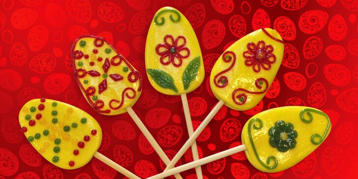 Začíná doba velikonočních mlsání: objevte ručně dělaná lízátka z karamelu