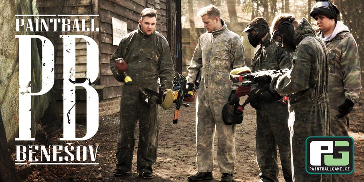 4 hodiny paintballu na vojenské základně Benešov u Prahy