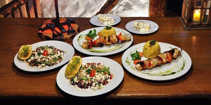 Laguna plná jídla: Výtečné 3chodové menu s chlalupářským špízem pro 2 gurmány