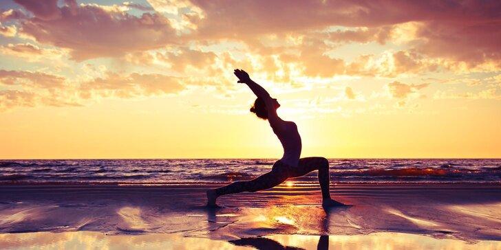 Dávka zdraví v podobě 80minutové lekce Hatha jógy nebo Jin jógy