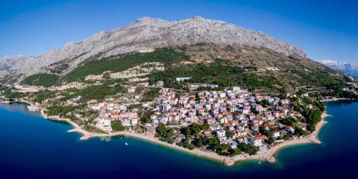 Omišská riviéra - apartmány na pláži s výhledem na moře vč. autobusové dopravy