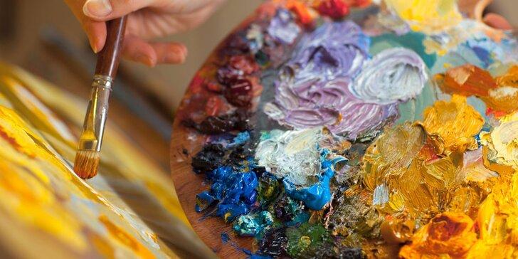 Večerní výtvarné kurzy grafiky nebo malby