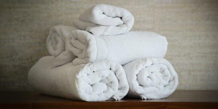 Bílý bavlněný ručník nebo koupelnová sada z dejvického obchůdku Create Style