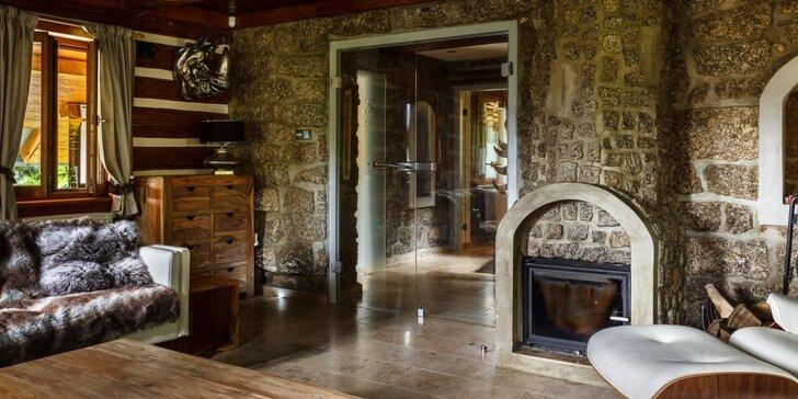 Luxusní ubytování v Jizerkách - pro 6 osob s vlastním wellness, terasou a grilem