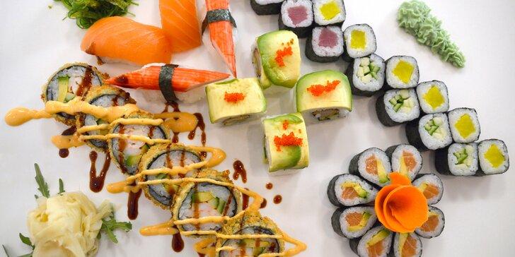 Pokyňte hůlkami slunci: set 38 kusů chutného sushi SunRice