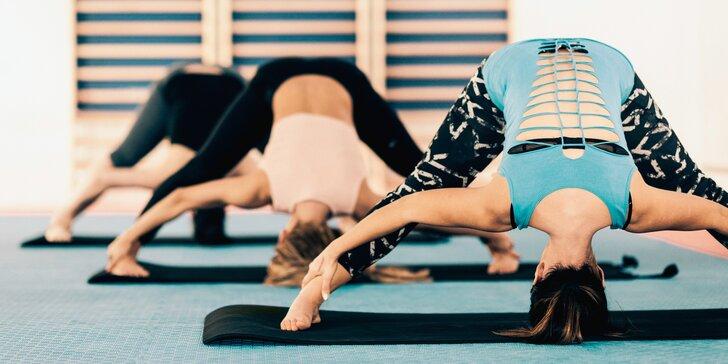 60minutová lekce power jógy ve fitness klubu Bitevní pole