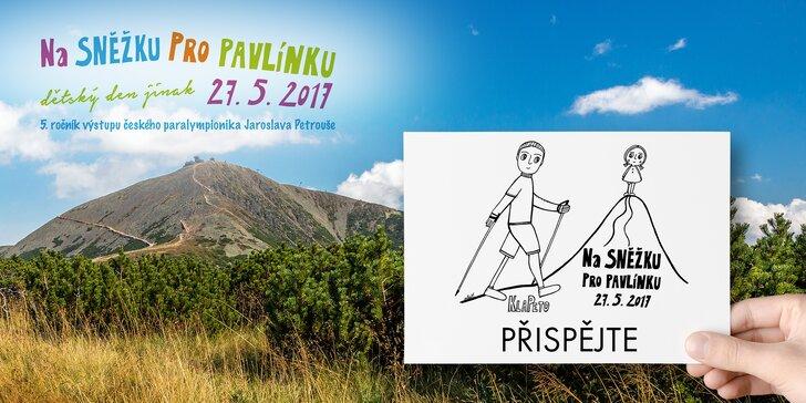 Na Sněžku pro Pavlínku: podpořte projekt, který pomáhá dětem s handicapem
