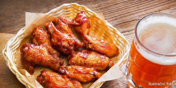 Budete si medit: kuřecí křidélka a pivní degustace pro partu přátel