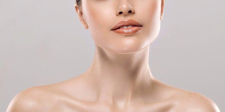 Zpevnění krku a brady impulzní svalovou stimulací