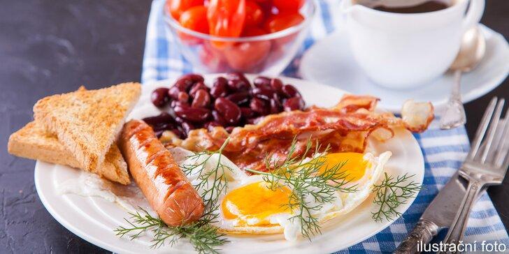 Americká snídaně podávaná v restauraci na Štvanici pro 1, 2 nebo 4 osoby