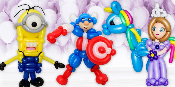 Připravte dětem nezapomenutelnou oslavu: postavičky a masky z vyrobené balonků