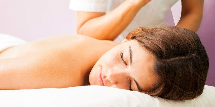 Úleva těla a odpočinek duše: masáž v délce až 120 minut dle výběru