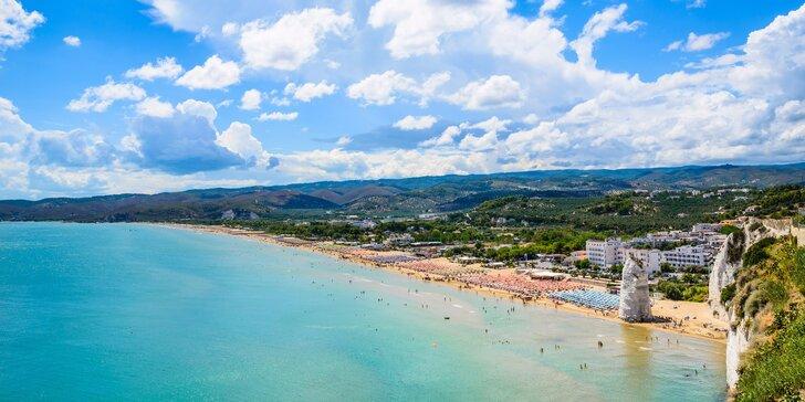 Italské Gargano: 7 nebo 10 nocí u pláže včetně polopenze + 2 děti zdarma