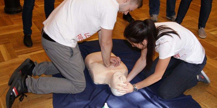 6hodinový zážitkový kurz první pomoci s certifikátem o absolvování