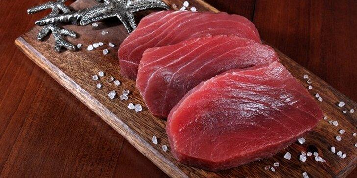 Čerstvé rybí maso z divokého odchytu: Filet z tuňáka žlutoploutvého