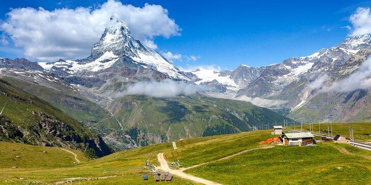 Švýcarsko: Zážitek na úpatí jedné z nejslavnějších světových hor Matterhorn 4447m