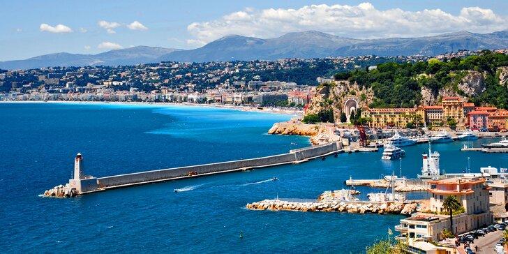 Poznávací zájezd po Francouzské riviéře včetně dopravy, ubytování a snídaně