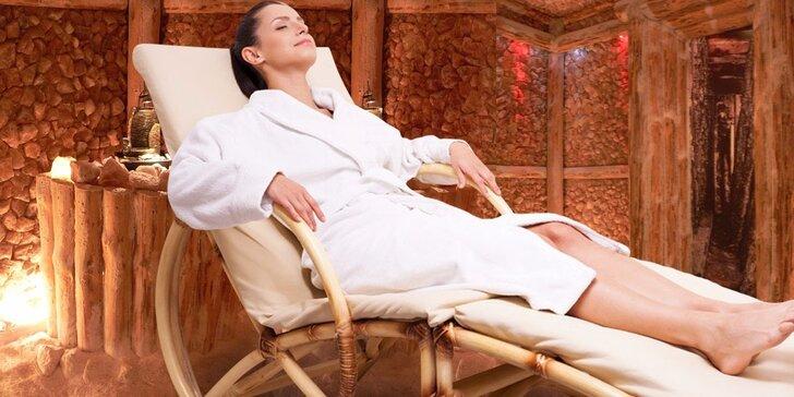 Odpočinek v solné jeskyni s možností masáže a jiných procedur