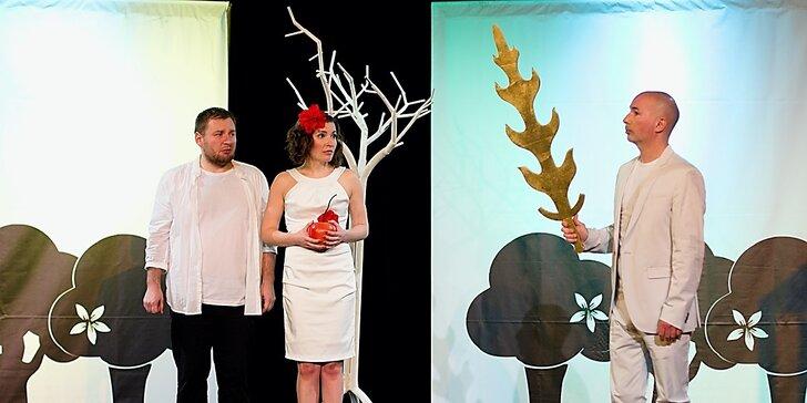 Vstupenka na divadelní komedii Stvoření světa podle Karla Janáka