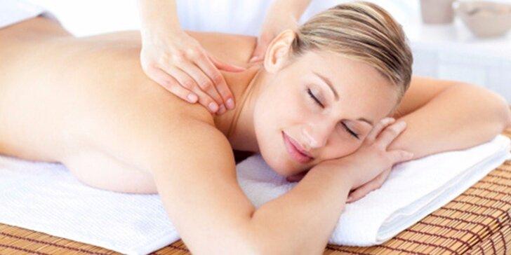 Balíček 3 relaxačních masáží se zábalem dle výběru