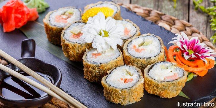 Delikatesní set 20 kousků sushi v moderní vietnamské restauraci v centru Prahy