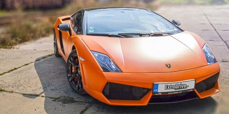 Pekelně rychlá jízda v nadupaném Lamborghini Gallardo včetně paliva