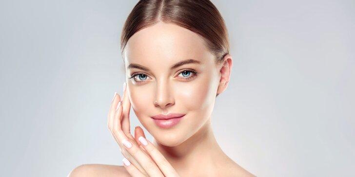 Kosmetické ošetření 4 v 1: Čištění pleti koloidním stříbrem vč. liftingové masáže