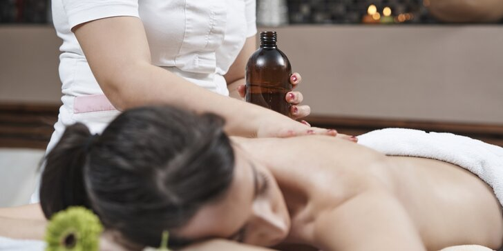 60- nebo 90minutová relaxační olejová masáž dle výběru