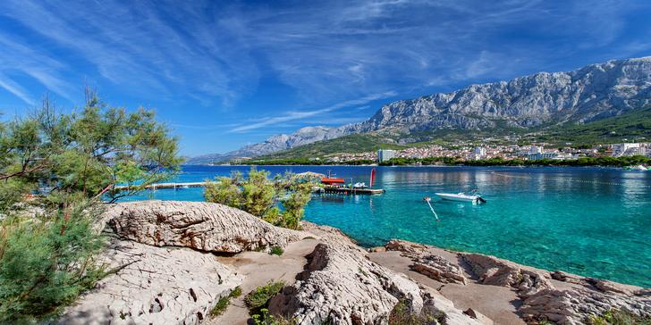 7 nocí přímo na pláži v apartmánech pro 4 v Chorvatsku u Makarské riviéry