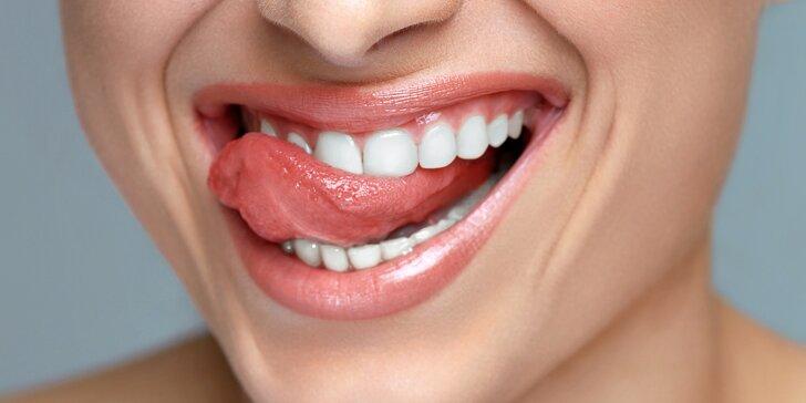 Šetrné zesvětlení zubů bez peroxidu přístrojem Dentalux