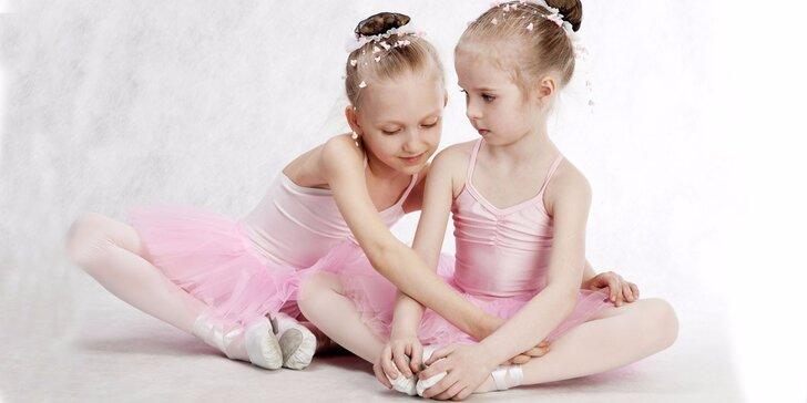 1, 3 nebo 5 lekcí baletu pro holčičky do 5 let