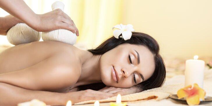 Dopolední thajská masáž dle výběru v nakupnim centru Galerie Slovany