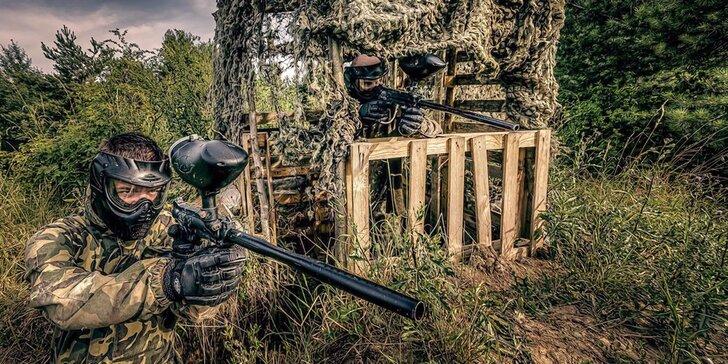 Celodenní paintball na vojenské základně vč. vybavení a 100 kuliček