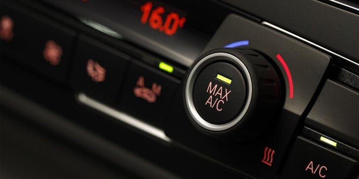 Plnění a čištění klimatizace vašeho vozu s možnou dezinfekcí interiéru