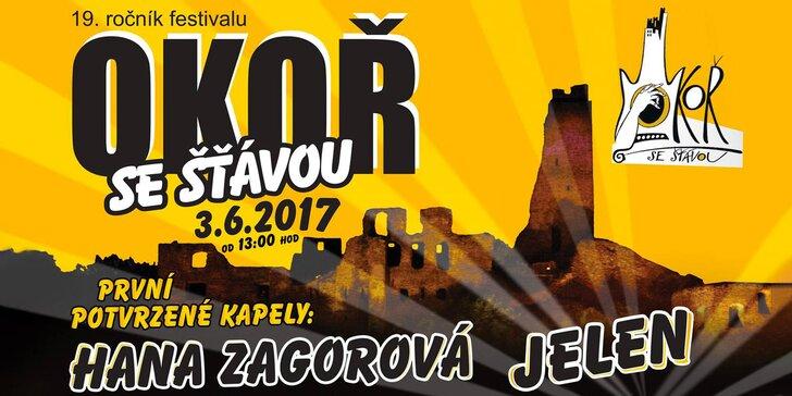 Festival Okoř se šťávou: Horkýže Slíže, Jelen, Hana Zagorová a další muzika