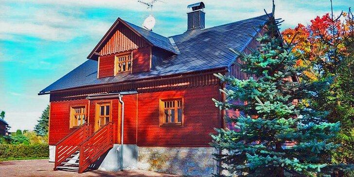 Pronájem útulného apartmánu pro dva či celou rodinu v přírodním ráji v Jeseníkách