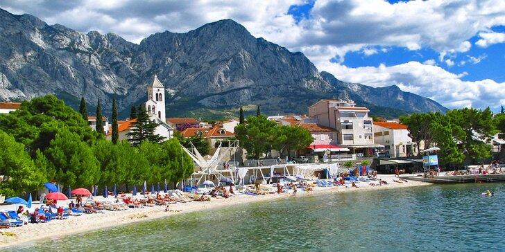 Letní dovolená v apartmánovém domě v letovisku Baška Voda v Chorvatsku