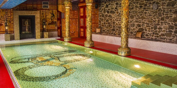 Privátní antické lázně se slaným bazénem k relaxaci či k plavání pro 2 osoby