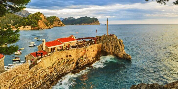 Červen, září či říjen v Černé Hoře: hotel s bazénem a polopenzí 300 m od pláže