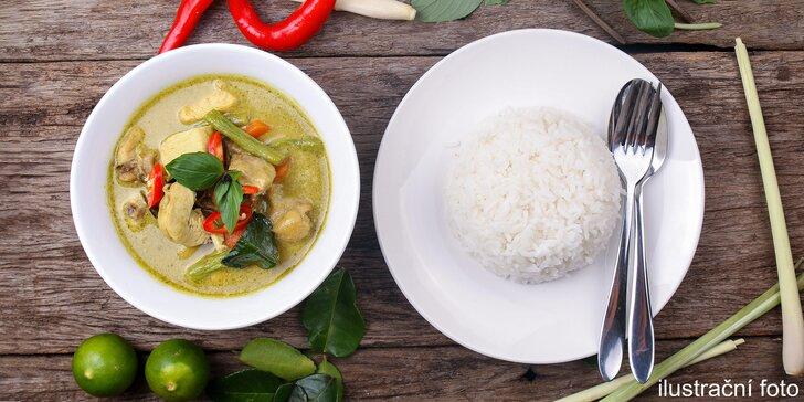 Asijské potěšení: Polévka, výběr ze 4 hlavních chodů a domácí limonáda