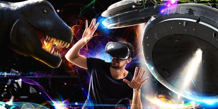 Hodina ve virtuální realitě pro více hráčů: cestujte, sportujte, hrajte a bavte se
