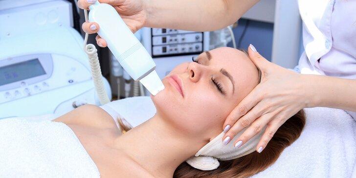 Ošetření pleti ultrazvukem se zapracováním aktivních látek radiofrekvencí