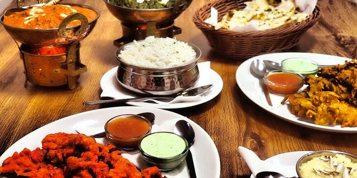 Pokrmy vonící dálkami: Autentické menu pro 2 od indického šéfkuchaře