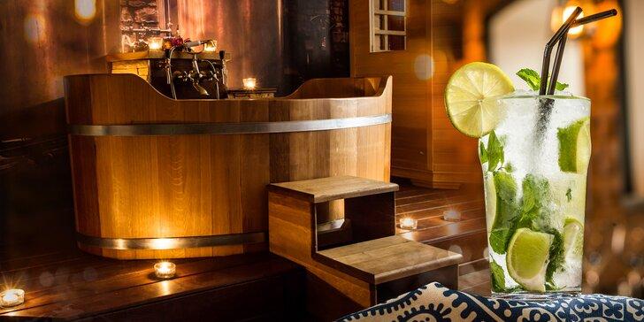 Osvěžující bylinková lázeň a drinky pro dva v Lázních Stodolní