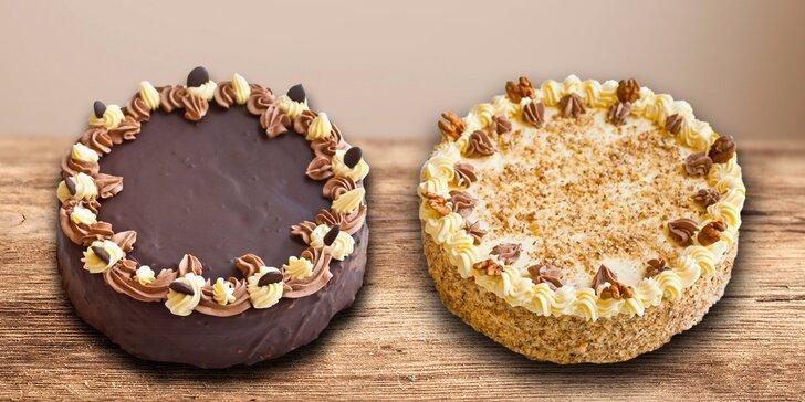 Poctivý dort z domácích surovin z cukrárny Sluníčko – výběr ze 2 druhů