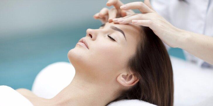 Omlazující luxusní ošetření s masáží skleněnými tyčinkami