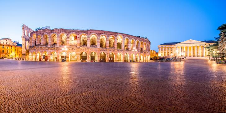Opera v italské aréně ve Veroně včetně koupání u jezera Lago di Garda