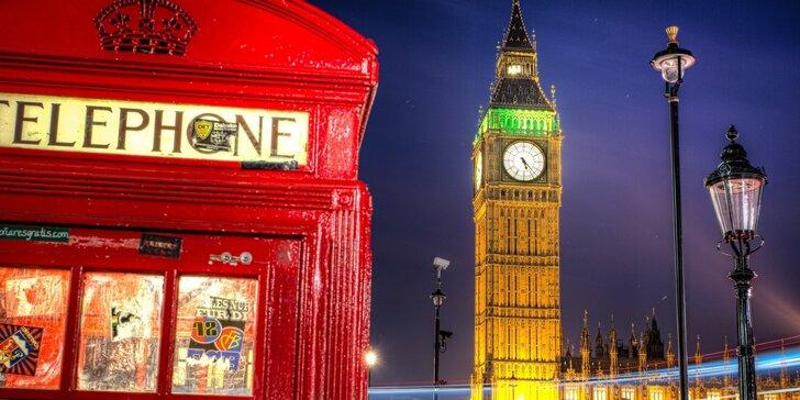 Poznávací zájezd do Anglie s průvodcem, dopravou a ubytováním se snídaní
