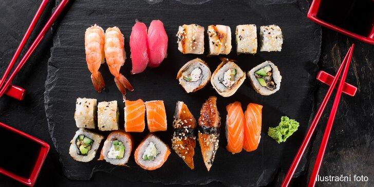 Nabruste si hůlky: sushi set z čerstvých surovin pro milovníky japonské kuchyně