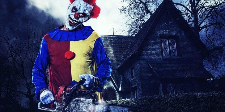 Úniková hra pro 2–4 hráče: 60 minut děsu s reálným klaunem